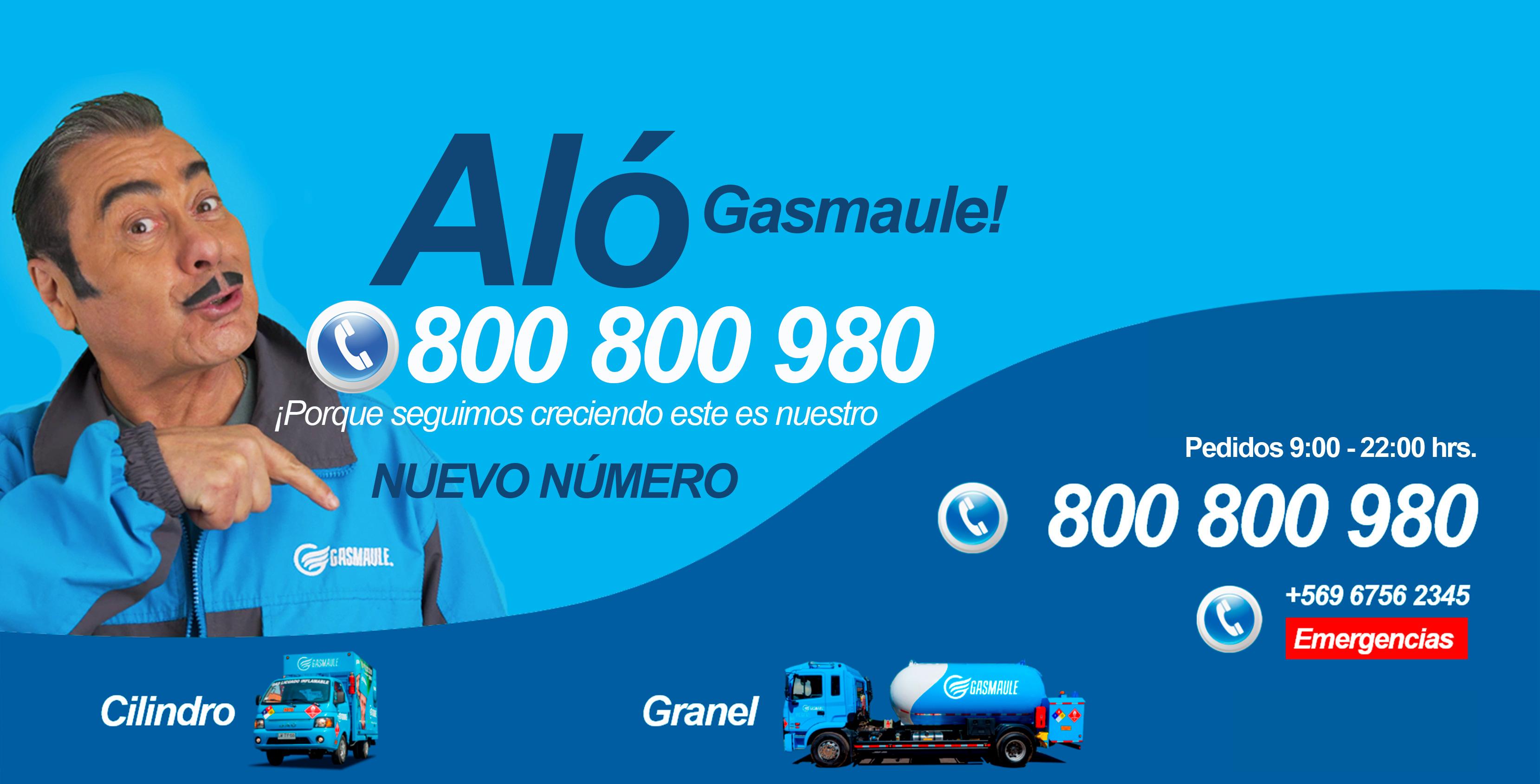 Nuevo Número Gasmaule 800 800 980